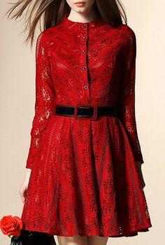 Red Lace Dress #valentine ==