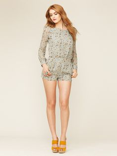 Woven Keyhole Romper by Lucca Couture on Gilt.com