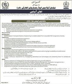 NADRA Software Developer Jobs in Islamabad  Daily4Pk