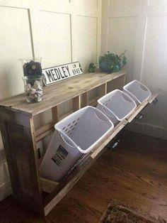 Coole Idee um schmutzige Wäsche zu sortieren und 'verschwinden' zu lassen