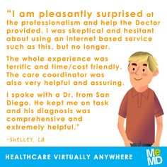 Have you been pleasantly surprised by telemedicine? Let us know! #testimonialthursday #MeMD