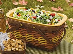 Try serving salad in a large market basket at your next picnic