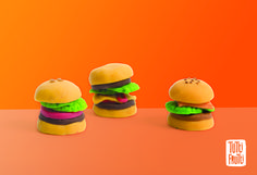 Hamburger pâte à modeler / modeling dough Tutti Fruti Bojeux