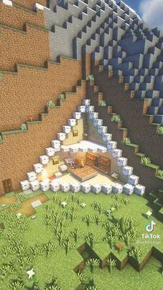 Video Minecraft, Easy Minecraft Houses, Minecraft Modern, Minecraft Room, Minecraft Decorations, Amazing Minecraft, Minecraft Tutorial, Minecraft Blueprints, Minecraft Creations