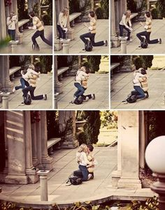 i love how she JUMPS to hug him before he even gets the chance to stand up. i will probably do this!!