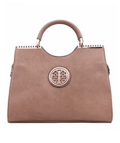 Look at this #zulilyfind! Taupe Hamilton Satchel #zulilyfinds