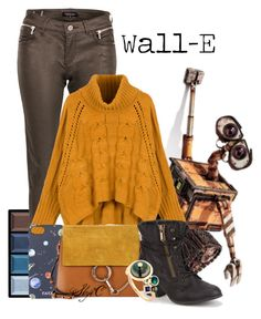 Wall-E - Disney Pixar by rubytyra on Polyvore featuring polyvore fashion style WithChic Morgan Qupid Chloé BIBI VAN DER VELDEN FeFè Clé de Peau Beauté clothing disney disneybound pixar walle disneybounding