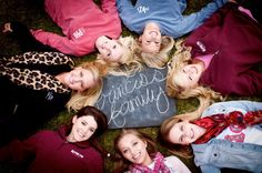 We are going to do one of these photo before freshman year and then at graduation! Our group of girls have been friends for so long!
