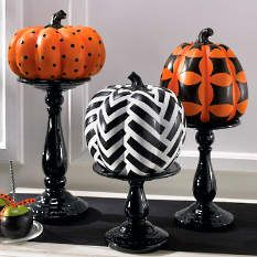 Shop for pumpkin decorations and artificial pumpkins at Grandin Road Halloween Haven. Find quality pumpkin decor to complete your Halloween display. Halloween Porch, Diy Halloween Decorations, Halloween Ghosts, Holidays Halloween, Halloween Pumpkins, Halloween Crafts, Halloween Ideas, Fall Decorations, Fall Crafts