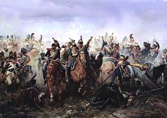 Horse Guards Regiment(ru) at the Battle of Fère-Champenoise on 13 March 1814, (1891), oil on canvas — Military Historical Museum of Artillery, Engineers and Signal Corps.