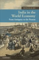 India in the world economy : from antiquity to the present  	 Tirthankar Roy.  	 (Series: New approaches to Asian history ; 10)