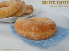 Graffe fritte con patate, ricetta con lievito madre Frittata, Dolce, Hamburger, Bread, Pane, Food, Bombshells, Brot, Essen