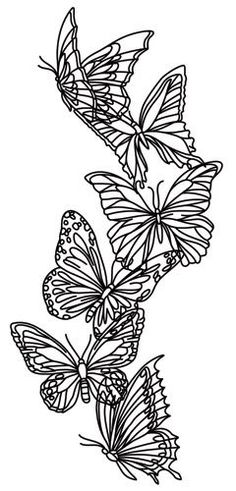 Ideas For Embroidery Designs By Hand Pattern Transfer Paper Urban Threads Butterfly Embroidery, Paper Embroidery, Butterfly Art, Hand Embroidery Designs, Embroidery Stitches, Embroidery Patterns, Machine Embroidery, Butterflies, Bordado Floral
