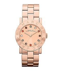 Marc by Marc Jacobs Amy Rose Goldtone Watch | Dillards.com