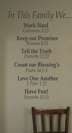 I love that this has Bible verses for each piece rather than just the quote. :)