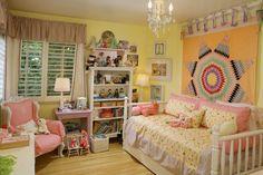 Плетеный ковер в детской комнате
