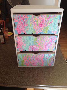 Lilly Pulitzer Inspired Set of Drawers by dTmCreations on Etsy, $60.00