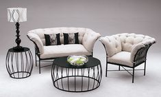 Wrought Iron Garden & Patio Sets Available Now! Iron Furniture, Outdoor Furniture Sets, Relaxation Crafts, Garden Patio Sets, Wall Trellis, Drum Coffee Table, Bistro Set, Square Tables, Table And Chairs