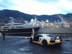 When in Monaco what would you rather have, a super yacht or a super car ?