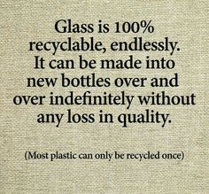 Recycling ... let's go back to glass bottles! Pop bottles, mayo jars, Pickle jars etc
