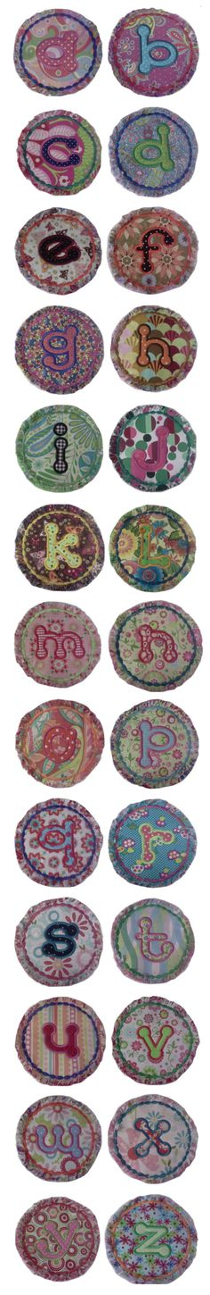 Embroidery | Free Machine Embroidery Designs | Raggedy Dots Applique Alphabet