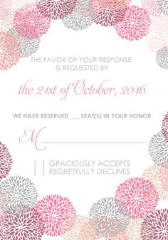 Flower-works matching RSVP template. Free to download.