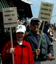 Senior-citizen protesters.