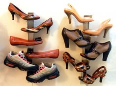 Shrine Shoe Rack - great way to display all the shoes you find at uniquelystranded.com as wall art!