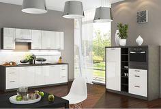 Výsledok vyhľadávania obrázkov pre dopyt zariadenie kuchyne s obývačkou Vanity, Mirror, Kitchen, Furniture, Home Decor, Painted Makeup Vanity, Cuisine, Homemade Home Decor, Lowboy