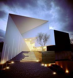 Architecture Building Design, Facade Design, Contemporary Architecture, Exterior Design, Pavillion Design, Ultra Modern Homes, Modern Villa Design, Futuristic Home, Balkon Design