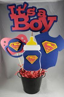 Superman Baby Shower, Marvel Baby Shower, Otoño Baby Shower, Regalo Baby Shower, Superhero Baby Shower, Baby Shower Invitaciones, Boy Baby Shower Themes, Baby Shower Parties, Baby Showers