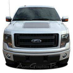 """2009 - 2014 Ford F-150 """"FORCE HOOD"""" Factory Style Vinyl Decal Graphic Stripes"""
