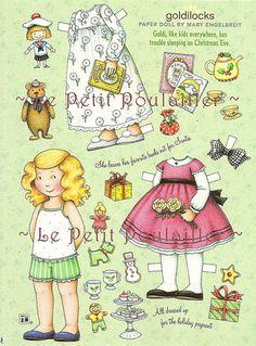 PetitPoulailler Mary Engelbreit Paper Doll, Goldilocks