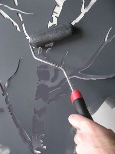 tape designs for painting walls   Just roll it out, tape it to your wall, and roller paint carefully in ...