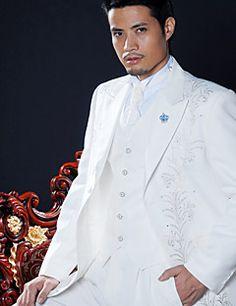 White+Polyester+Slim+Fit+Four-Piece+Tuxedo+–+USD+$+118.99