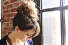 This tutorial is great for messy buns as well. I have been looking for a way to do a messy bun with out curling my hair first.
