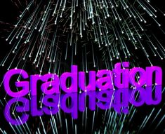 Graduation Word With Fireworks Showing School Or University ...
