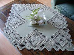 Muster aus einem Hardangerkurs meiner Mutter, Ausführung Anne Werkle