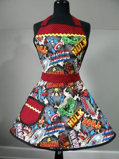 Hey, I found this really awesome Etsy listing at https://www.etsy.com/listing/223809276/womens-apron-captain-america-marvel