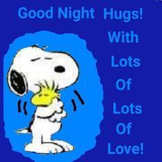 Good Night Hug, Good Night Qoutes, Good Night Messages, Good Night Sweet Dreams, Good Night Image, Night Quotes, Snoopy Cartoon, Snoopy Comics, Snoopy Hug