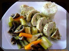 Lookcool...λεια γεύματα! : Κοτόπουλο πέστο στον ατμό Snack Recipes, Cooking Recipes, Healthy Recipes, Snacks, Healthy Meals, Steam Cooker, Potato Salad, Clean Eating, Ethnic Recipes