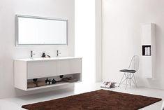 Avanity Sonoma (double) 63-Inch Modern Bathroom Vanity - White