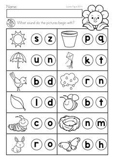 Beginning sounds Worksheets for Kindergarten. Beginning sounds Worksheets for Kindergarten. Stamp It Up Beginning Sounds Worksheets, English Worksheets For Kindergarten, Free Kindergarten Worksheets, Kindergarten Learning, Beginning Sounds Kindergarten, Teaching, Lkg Worksheets, Phonics Worksheets, Jolly Phonics Activities