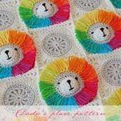 Rainbow Lion Baby Blanket Pattern