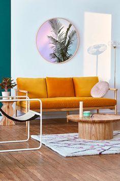 Minna Velvet Sofa - Urban Outfitters