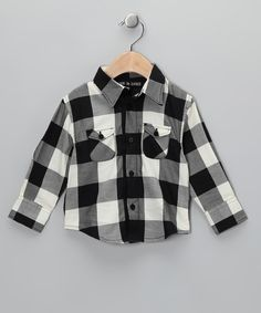 Black & White Gingham Button-Up - Infant, Toddler & Boys