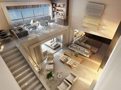 25 Amazing Interior Design Ideas For Modern Loft Loft is an extra space that looks like a second floor, but it is not eligible enough to be said … Design Loft, Modern House Design, Modern Interior Design, Architecture Interior Design, Architecture Plan, Tiny Loft, Loft Stil, White Brick Walls, Country Interior