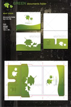Green Documents Folder — Layered PSD #documents #corporate • Available here → https://graphicriver.net/item/green-documents-folder/92916?ref=pxcr