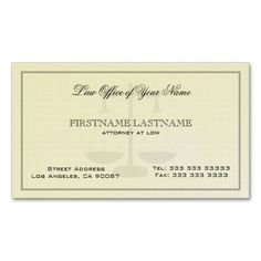 281 best attorney business cards images on pinterest in 2018 attorney at law office simple linen texture business card accmission Choice Image