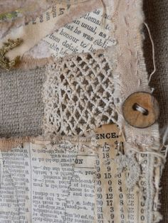 cloth, paper, buttons by gentlework